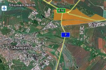 Карта на Индустриален парк Шумен